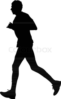 197x320 Runner Silhouette. Run Vector Stock Vector Colourbox