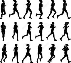 236x209 Runners Silhouettes Vector Silhouettes Vector Free Download