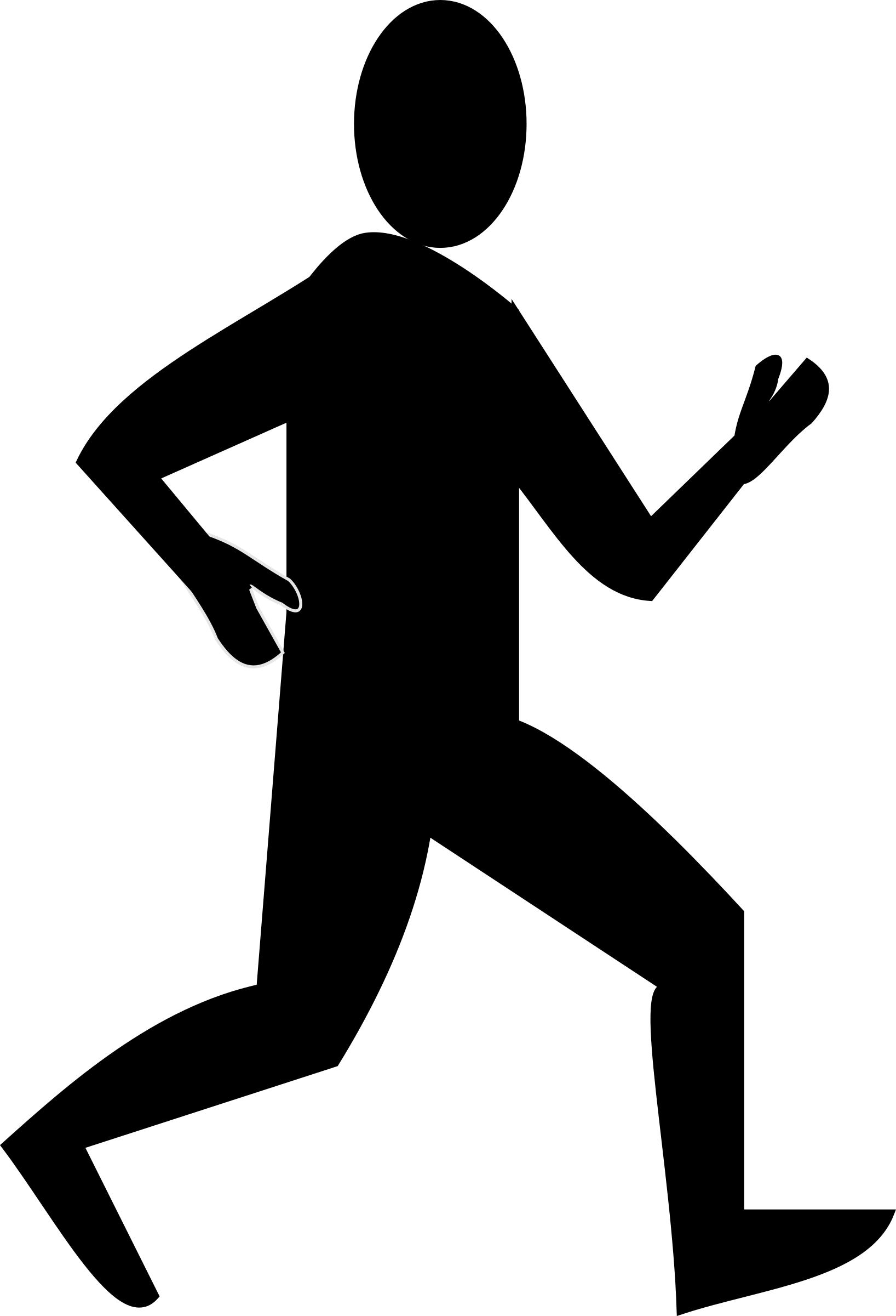 1636x2400 Male Runner Silhouette Icons Png
