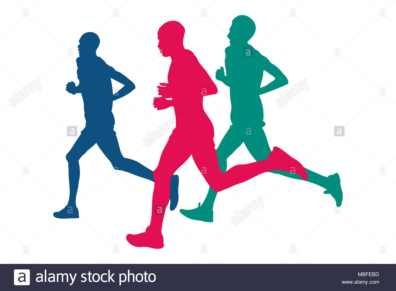 1300x956 Man Marathon Runners Silhouettes Vector Stock Photos Amp Man