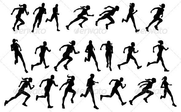 590x367 Runners Running Silhouettes Jpg Image