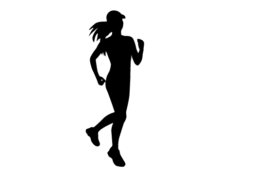 550x354 Running Woman Clipart Vector Collection