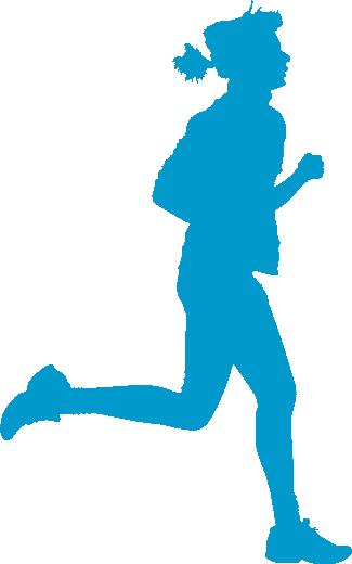 325x520 Clip Art Silhouette Female Runner Clipart