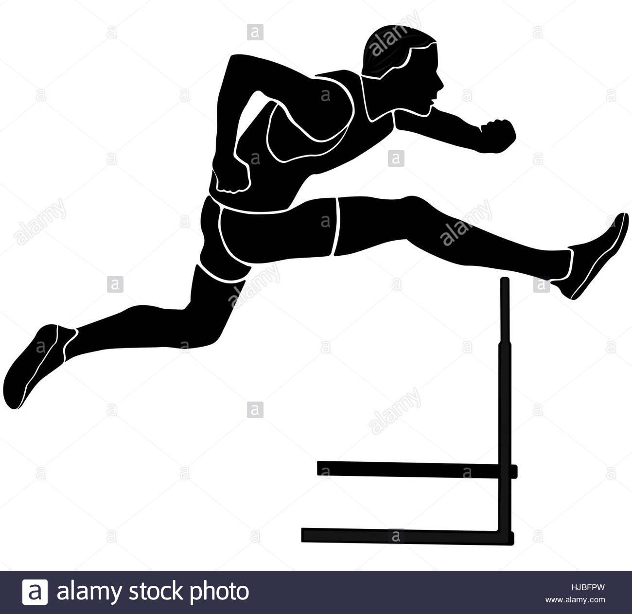 1300x1263 Runner Athlete Running Hurdles Black Silhouette Vector
