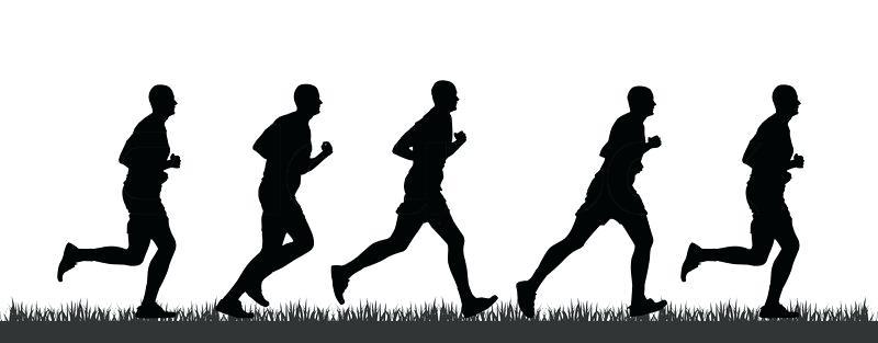 800x313 Runner Silhouette Runner Silhouette Vector