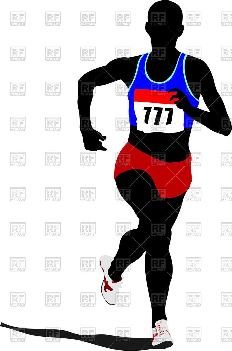 792x1200 Silhouette Of Runner (Marathoner) Royalty Free Vector Clip Art