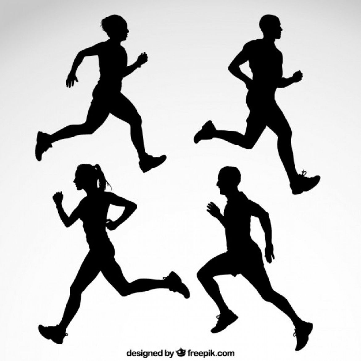 1170x1170 Free Vector Runner Silhouettes