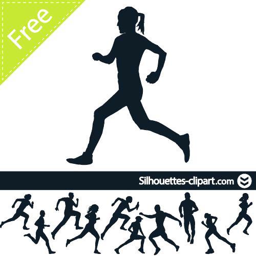 500x500 Runner Silhouette Marathon Runner Silhouette Vector