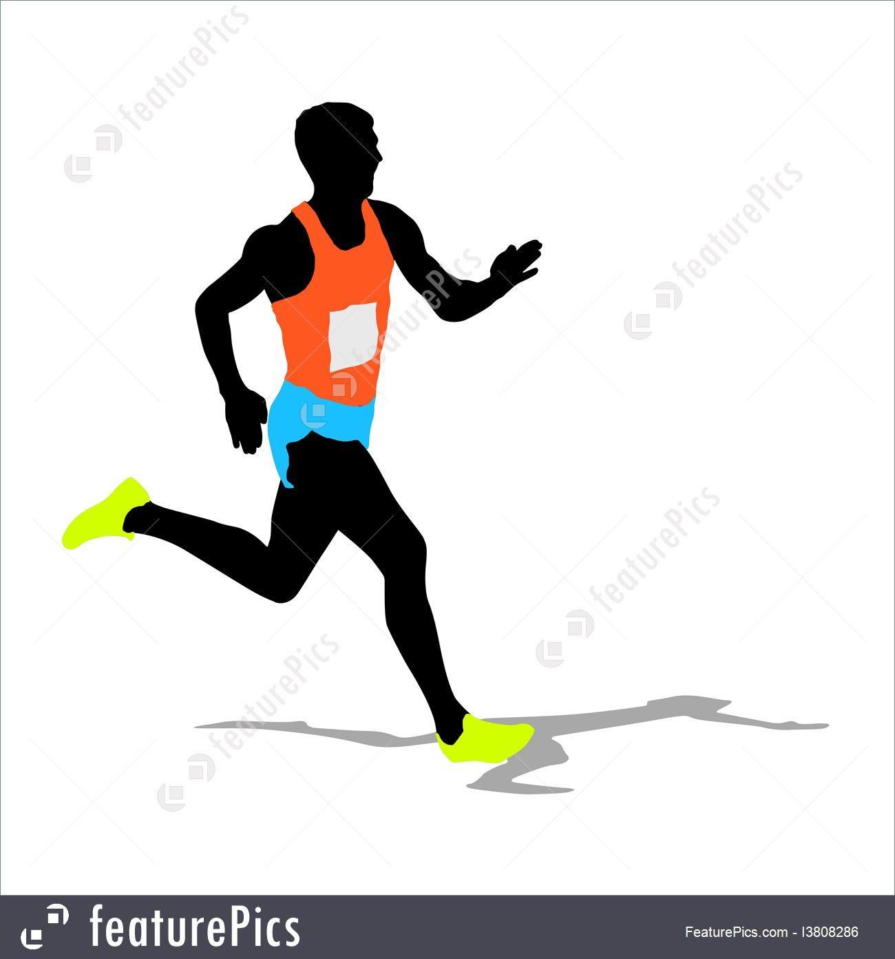 1300x1392 Athletics Runner Silhouettes Vector