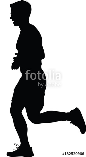 274x500 Runner Silhouette. Run Vector Stock Image And Royalty Free Vector
