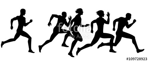 500x209 Runner Silhouettes Stock Image And Royalty Free Vector Files