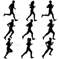 236x236 Athletics Silhouette Vector Sports Running Graphics Silhouette