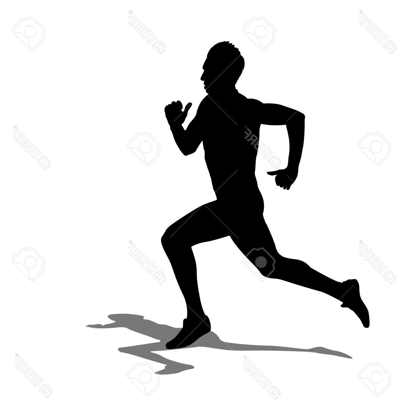 1300x1300 Best 15 Running Silhouettes Illustration Stock Vector Runner