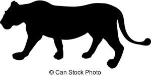 300x152 Leopard Running Silhouettes. Smooth And Detail Vector . Clipart