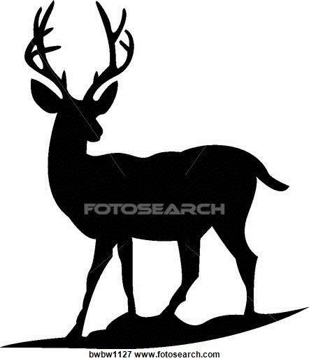 442x520 Mule Deer Clip Art