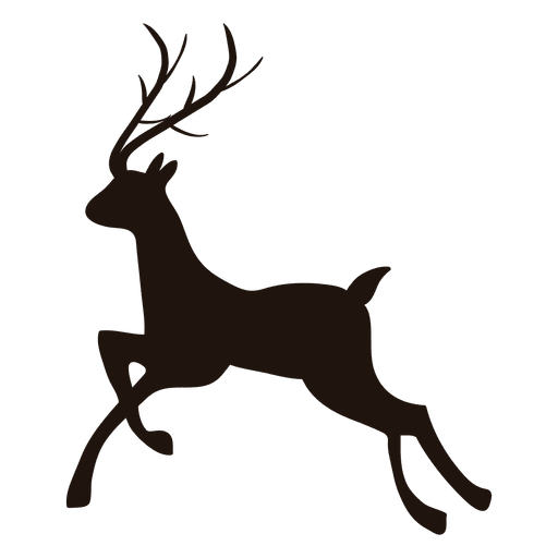 512x512 Reindeer Silhouette Running 16