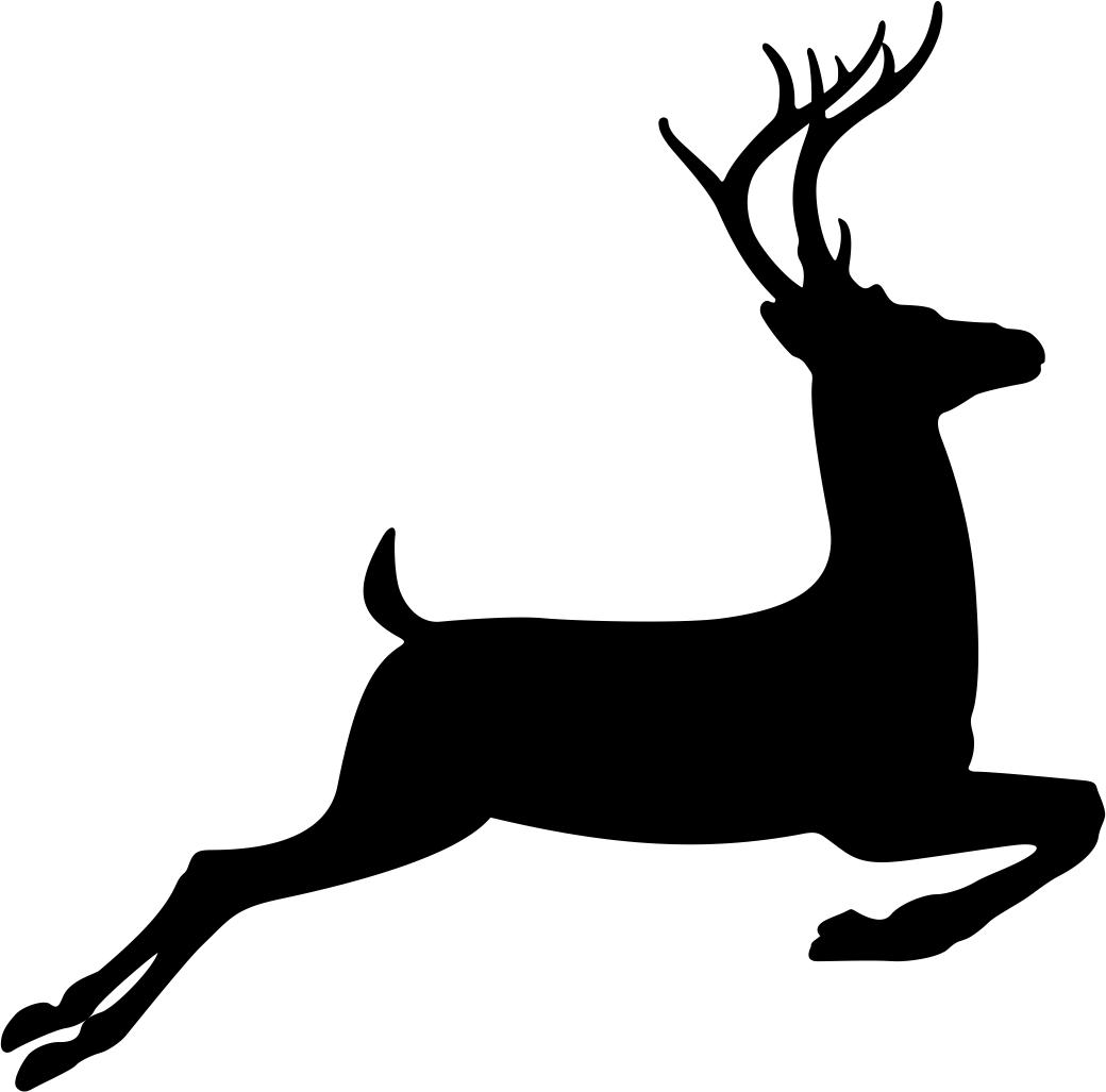 1040x1027 Running Deer Stencil Vector Coreldraw Vector (.cdr) File Free