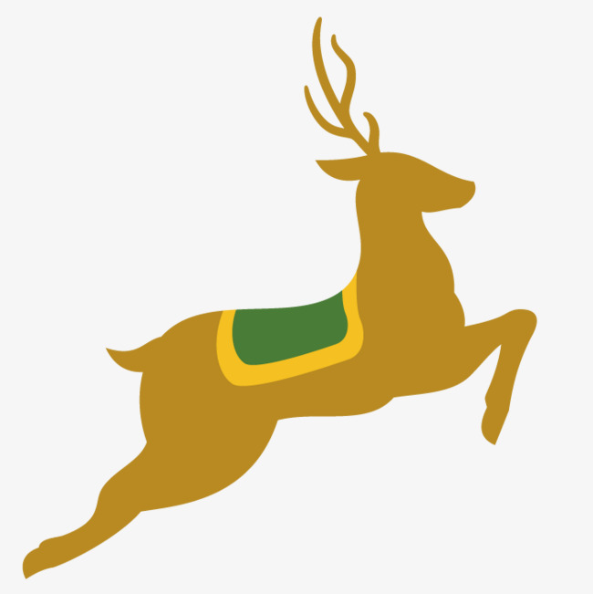 650x651 Running Deer Vector Art, Animal, Hand Painted, Jump Png And Vector