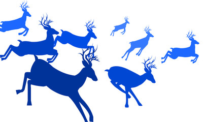 404x240 Search Photos Deer, Running, Reindeer, Vector, Illustration