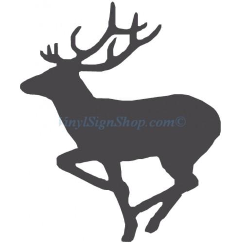 500x500 Custom Cut Running Deer Decal, Suitable For Car Windshield, Truck