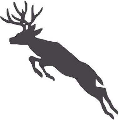 380x386 Deer Buck Stag Jumping Noble Aspirations Cricut