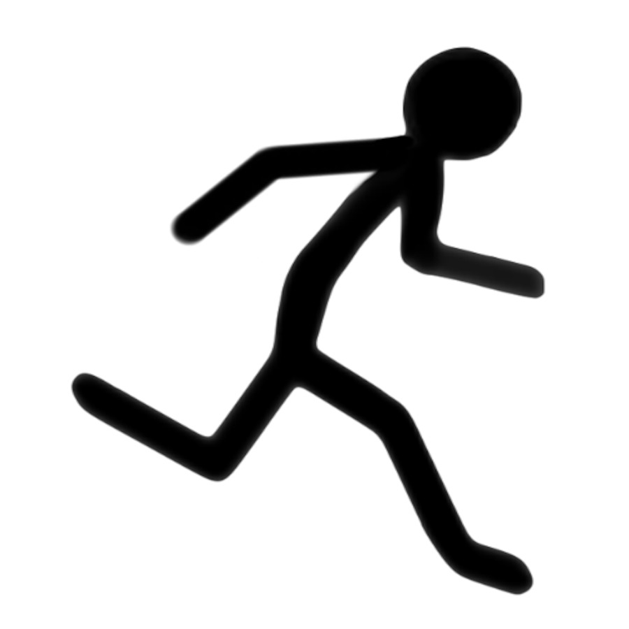 900x900 Stick Figure Running Clip Art