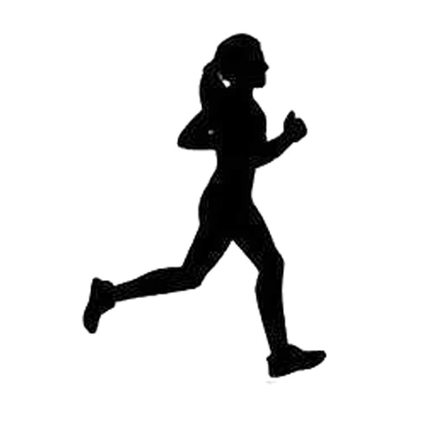 Running Girl Silhouette