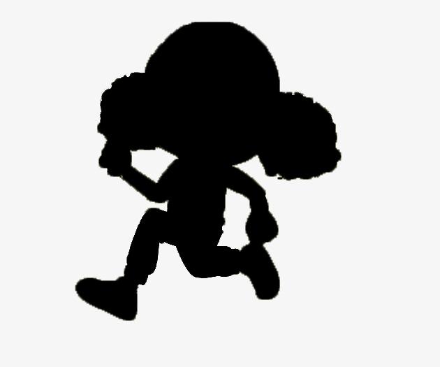 630x525 Running Girl Black Silhouettes, Black, Girl, Sketch Png Image