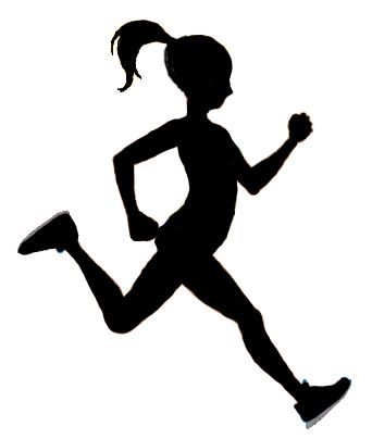running girl silhouette at getdrawings com free for personal use rh getdrawings com girl running away clipart girl running clipart black and white