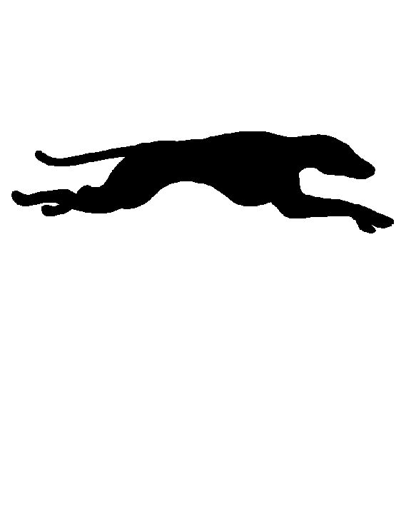 576x720 A Lovely Basic Silhouette Of Running Greyhound. Silver