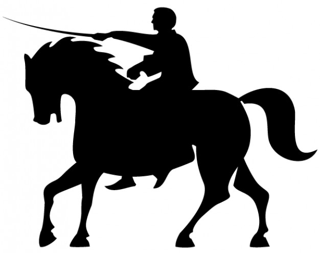 626x495 Horse Rider Silhouettes Vector Vector Free Download