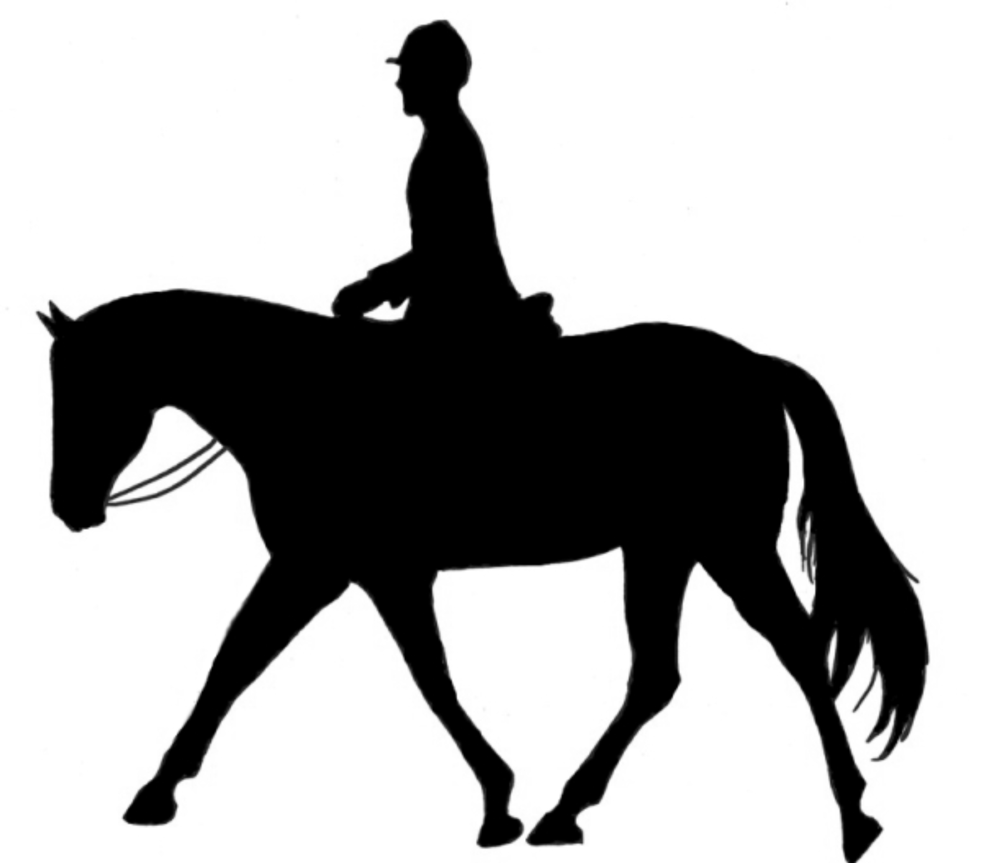 running horse and rider silhouette at getdrawings com free for rh getdrawings com Horse Drawings Horse Drawings