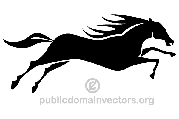 600x400 Running Horse Silhouette Vector Image 123freevectors