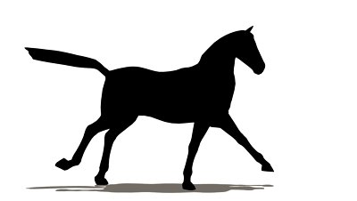 400x226 Running Horse Silhouette Decal 6x4.5