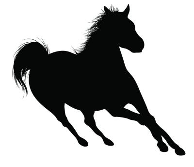 Running Horse Silhouette Clip Art