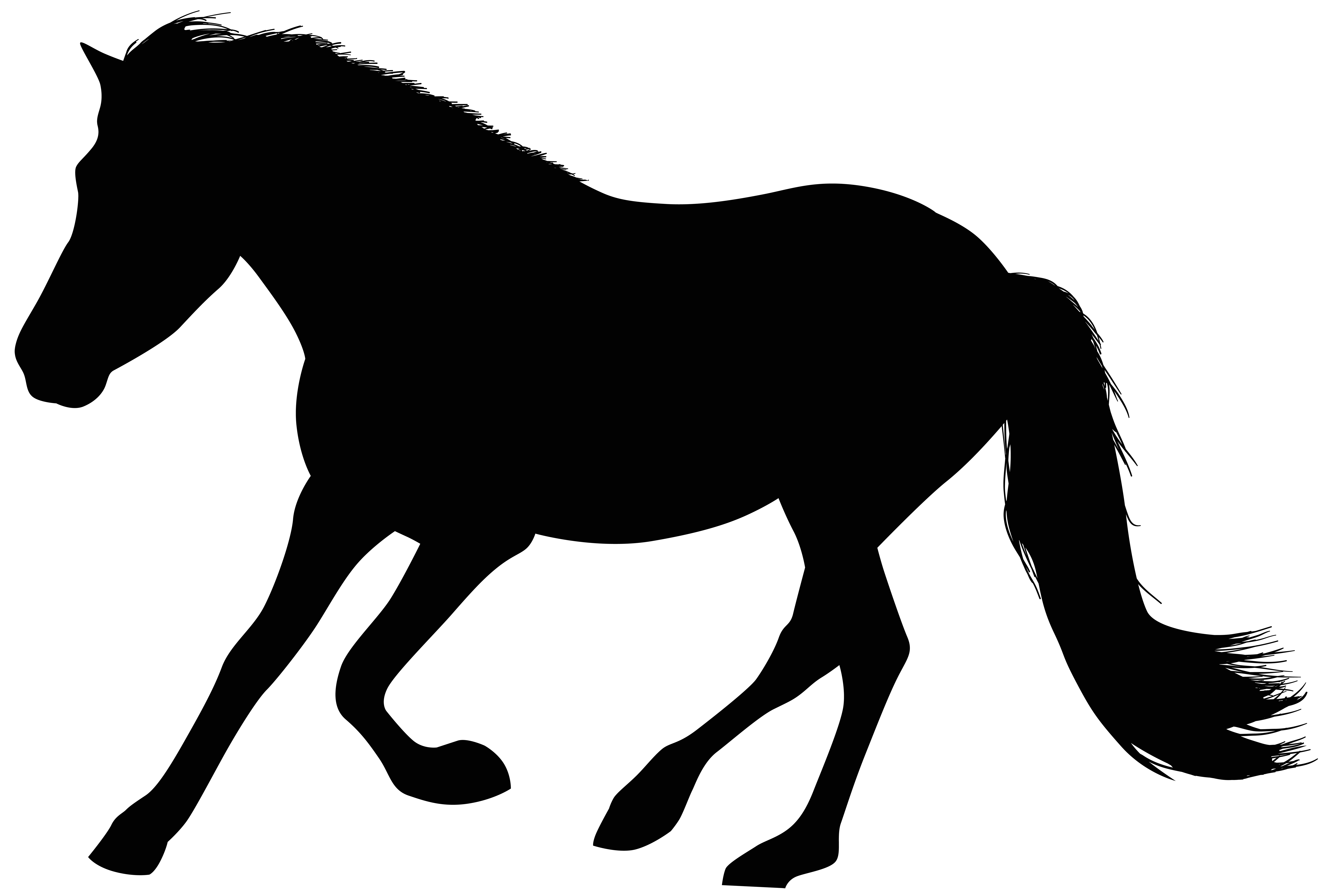 Running Horse Silhouette Clip Art At Getdrawings Free For