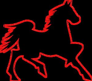 300x265 7466 Running Horse Outline Clip Art Public Domain Vectors