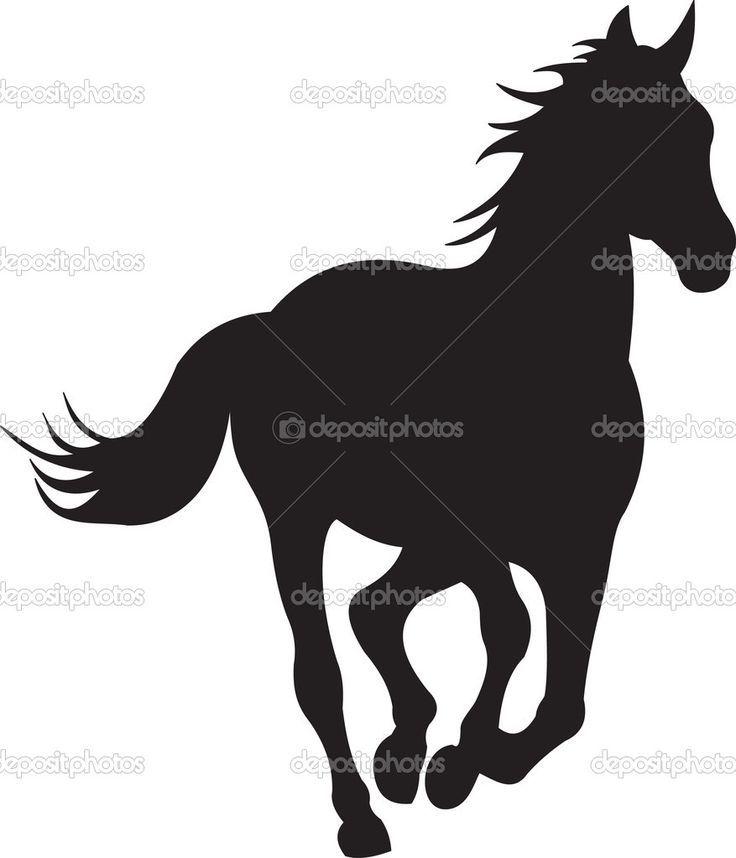 736x858 Bilderesultat For Silhouette Horse Head Siloette Art