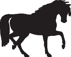 300x240 Horse Silhouette Clip Art