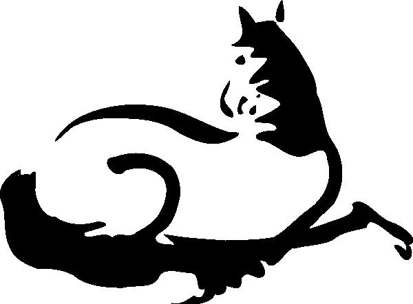 600x442 Running Horse Silhouette Clip Art