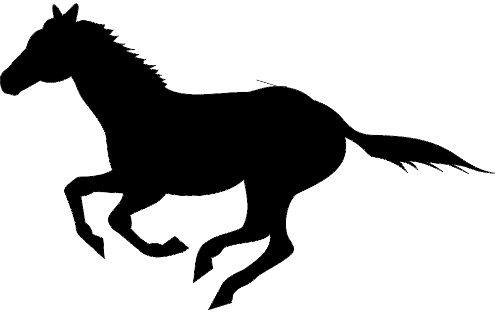 1002x633 Running Horse Silhouette Dxf File Free Download