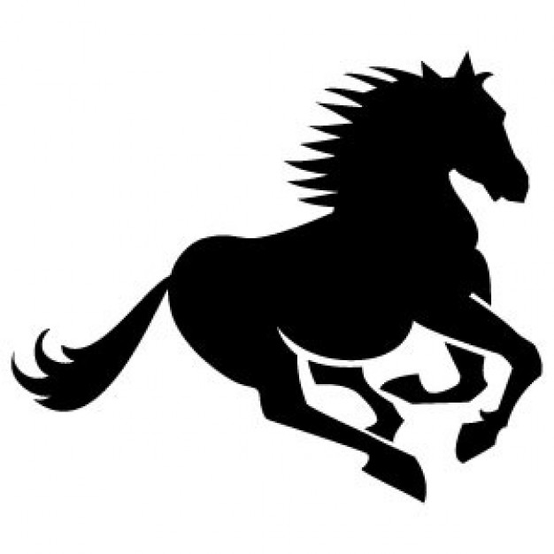 626x626 Running Horse Silhouette New Year 2015 Silhouette