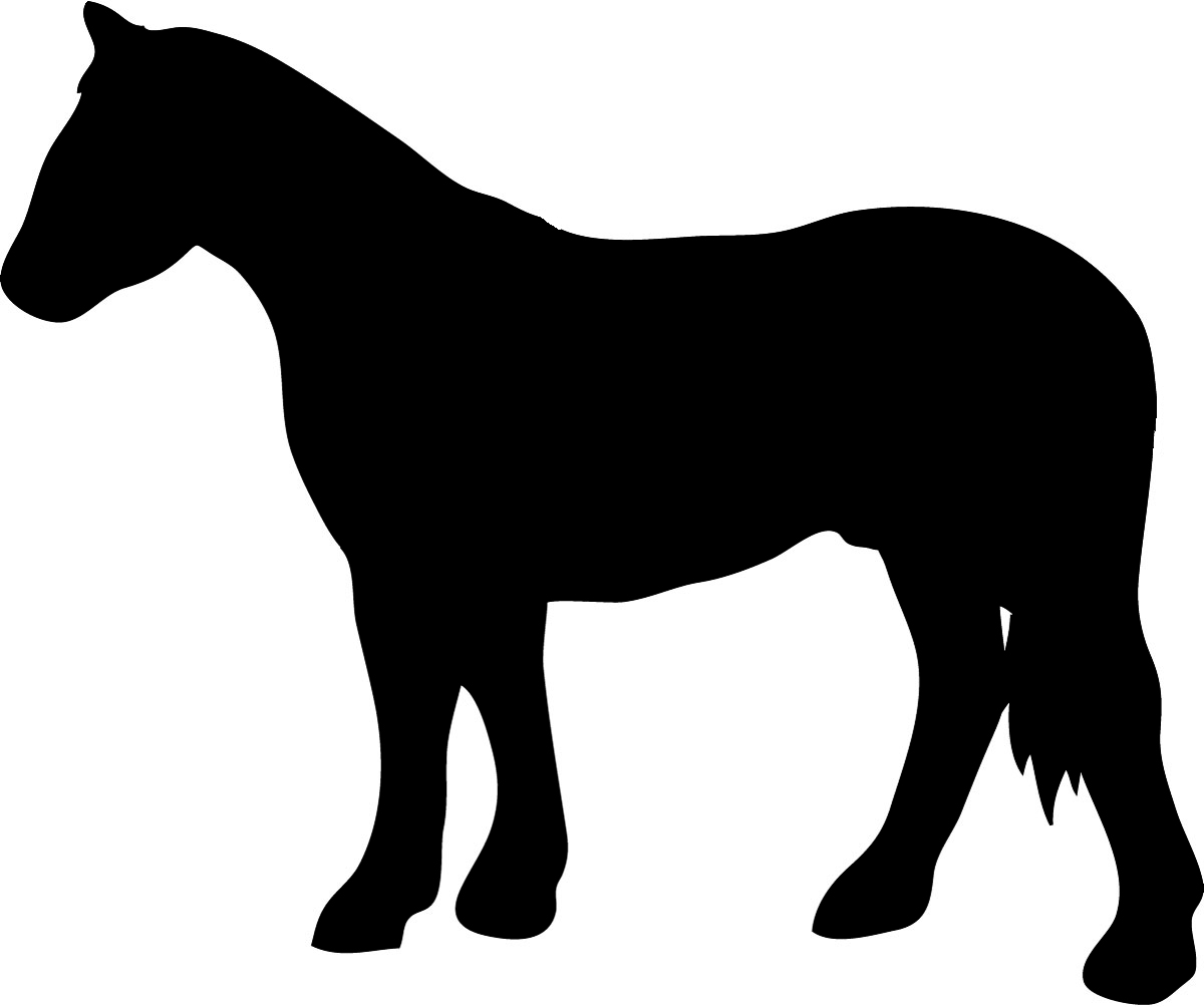 1200x1004 Running Horse Silhouette Vinyl Decal Customized Online. 0025