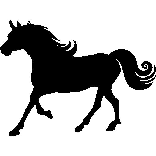 512x512 Horse Silhouette, Animals, Horse, Running, Run, Running Horse Icon