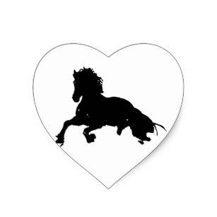 307x307 Running Horse Silhouette Stickers Zazzle