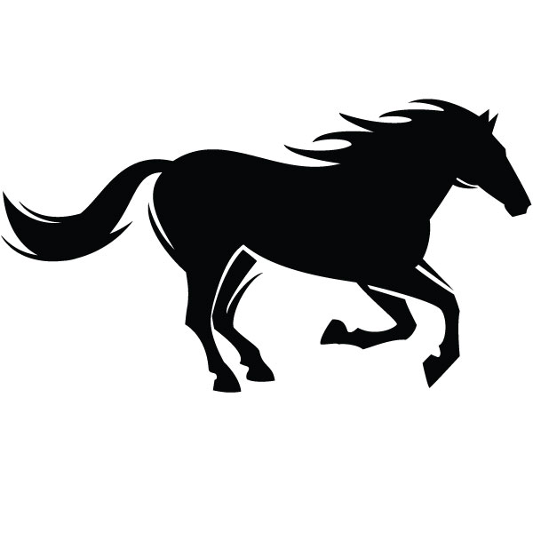 600x600 Free Horse Silhouette Vector, Hanslodge Clip Art Collection