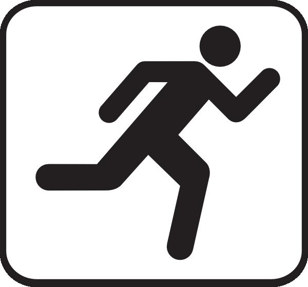 600x559 Running Icon Clip Art