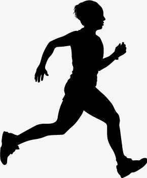 290x351 Running Silhouette Figures Vector Material, Man, Run, Movement Png
