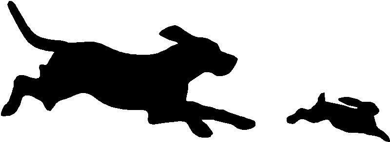 800x293 Beagle Hunting Rabbit ~hunting Sticker,decal,graphic Ebay