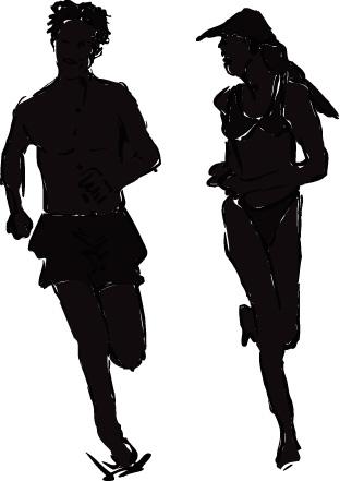 Running Silhouette Clip Art